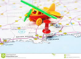 New Orleans Tourist Map by New Orleans Usa Map Flight Stock Photo Image 59316074