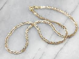 gold braided necklace images Braided tri color gold necklace jpg