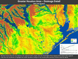 map of houston area greater houston area elevation analysis