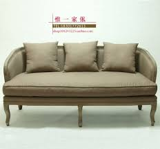 french export trade of american rural retro wood old double sofa