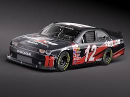 dodge challenger nascar accurate 3d model