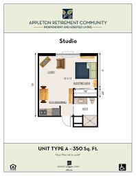 senior housing floor plans floor plans appleton retirement communityappleton retirement