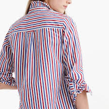 j crew blouses j crew fit boy shirt in and blue stripe rank style