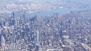 of manhattan landing in york city sky view of manhattan and environs