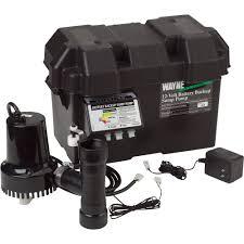 water powered backup sump pump wayne 12 volt emergency backup sump pump u2014 1750 gph model esp15