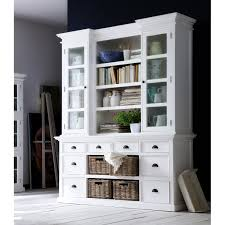 White Kitchen Hutch Cabinet Halifax Mahogany Library Or Kitchen Hutch Cabinet With Drawers And