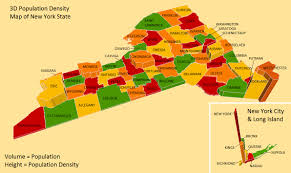 New York Map State by New York State Population Density Map New York Map