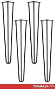 pre turned table legs hairpin dining table leg 28 black set of 4 mid century modern