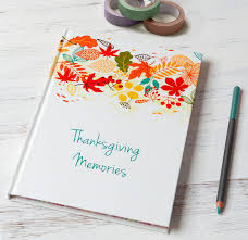 thanksgiving journal personalised thanksgiving journal by from you to me