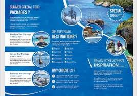 sample brochure for tour package 46 travel brochure templates free