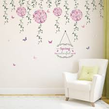popular spring art kids buy cheap spring art kids lots from china spring butterfly flower vine diy vinyl wall stickers for kids rooms home decor art decals