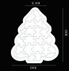 free shipping diy blank tree shape paper jigsaw puzzle