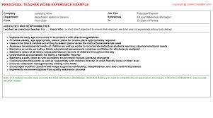 preschool teacher job title docs