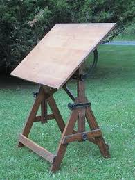 Keuffel Esser Drafting Table Vintage Retro Diamond Oak Back Barrel Sofa And Table Ebay Meme