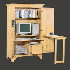 furniture computer armoire with storage and mini desk