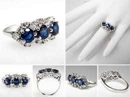 sapphire rings vintage images Vintage and antique engagement rings from eragem chic vintage brides jpg