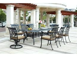 cast aluminum dining table 9 pc dining set outdoor living standard cast aluminum 9 piece dining