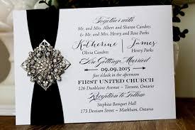 wedding invitations toronto wedding invitation 1310 pearl black ribbon