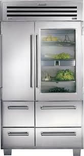 sub zero stainless 48 inch built in side by side refrigerator