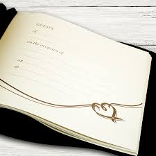 guest book and pen set personalised wedding guest book pen set