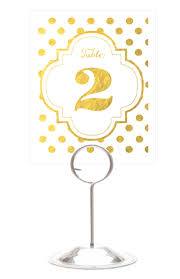 silver wedding table numbers foil gold and silver wedding table numbers
