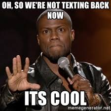 Kevin Hart Texting Meme - oh so we re not texting back now its cool kevin hart meme generator