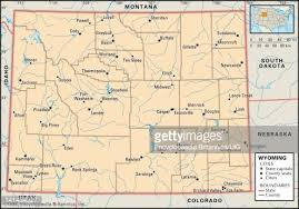 map of wyoming political map of wyoming stock illustration getty images