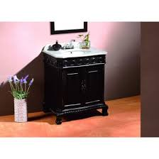 decors trent 30 inch single sink bathroom vanity in antique black