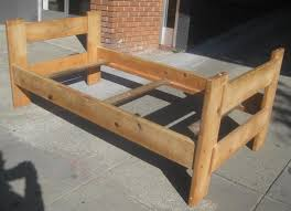 stylish wood twin bed frame bed and shower making a sturdy