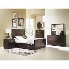 pecan brown 7 piece queen bedroom set key west rc willey