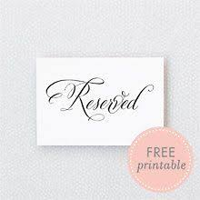printable reserved table signs calligraphy reserved diy wedding sign invites signage