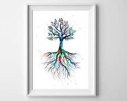 tree of wall etsy
