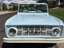 Old Ford Truck Bumpers - this 1966 ford bronco wants to party in a classier way ford