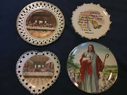 lord s supper plates 4 vintage collector decorative plates christian jesus supper