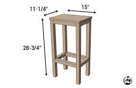 Plans For A Simple End Table by Easiest Bar Stools Ever Free Diy Plans Rogue Engineer