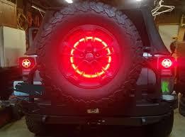 3rd brake light led ring jeep wrangler jk 2007 2017 12v 3rd brake light led ring jeeps