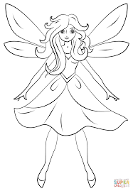 beautiful fairy coloring page free printable coloring pages
