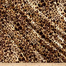Cheetah Print Curtains by Charmeuse Satin Cheetah Print Tan Black Discount Designer Fabric