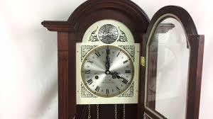 Wall Clock Vintage Waltham Tempus Fugit 31 Day Wall Clock Chimes Working