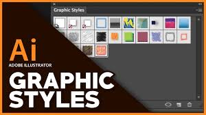 adobe illustrator graphic styles tutorial youtube