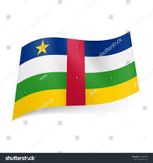 Green White And Yellow Flag National Flag Central African Republic Blue Stock Vector 179362049