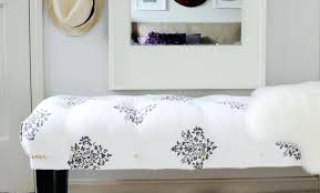 Small Upholstered Bedroom Bench Bench End Of The Bed Bench Amazing Diy Tufted Bench Build And
