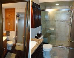 bathroom remodel ideas before and after small bridgewater bathroom remodel skydell contracting inc