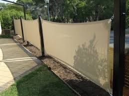 Backyard Privacy Screens by Patio Cream Fabric Porch Privacy Screen With Paver And Garden