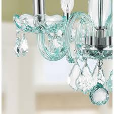 blue crystal chandelier light kids room glamorous turquoise blue crystal 4 light full lead