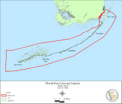 Map Of The Keys Carrying Capacity Analysis Impact Assessment Model