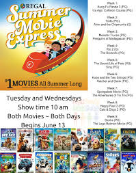 dollar movies this summer with regal and cinemark