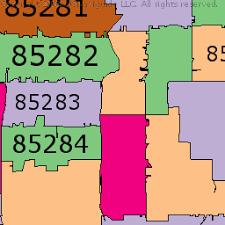 map of chandler az chandler arizona zip code boundary map az