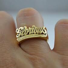 gold name rings custom name ring gold silver gvantsas designs