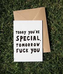 today you re special card anomie